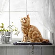 Katzenliege Fensterplatz | Perfekter Fensterliegeplatz für Katzen mit Kratzbrett