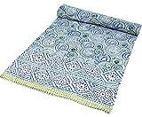 Best handmade Comforters - Guru-Shop Block Print Bedspread, bed Sofa Cover, Handmade Review