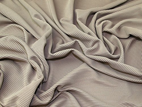 Strukturierte Rib Stretch Jersey Knit Kleid Stoff Pilz-Meterware -