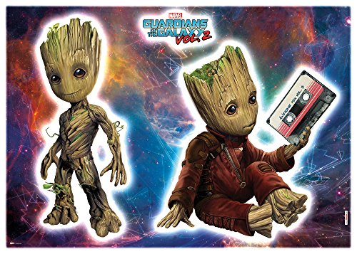 Komar - Marvel - Deco-Sticker GROOT - 50 x 70 cm - Wandtattoo, Wandbild, Wandsticker , Wandaufkleber, Guardians of the Galaxy, Baum, Held - 14054h