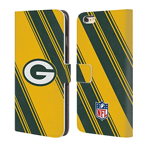 Ufficiale NFL Righe 2017/18 Green Bay Packers Cover a portafoglio in pelle per Apple iPhone 4 / 4S Righe