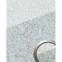 Pannello murale autoadesivo ottica vetro WallFace 16990 COCKTAIL argento bianco