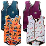 Swim Cosy Baby/Toddler Wetsuit Vest with UPF50 - Neoprene Wrap around design for Boys/Girls 0-3 years - Unicorns, Dinosaurs, Ducks