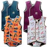 Swim Cosy Wetsuit für Babys, Ärmelloser Neopren Baby Schwimmanzug hält Babys im Wasser warm, Mädchen und Jungen (Teal Ducks, 6-18 Monate)