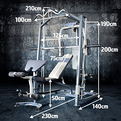 Marcy-Smith-MP3100-Machine-Home-Gym-With-Weight-Bench-Black-One-Size