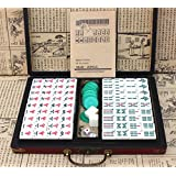 LI JING SHOP - Petit Mini Mahjong Carreaux Tourisme Dortoir Chambre Main Rub Mahjong ( taille : 2.4*1.8*1.3cm )