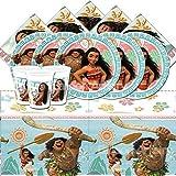 Set Oceania Disney BPWFA 315, composto da 16bicchieri, 16piatti di carta, 16tovaglioli, 1tovaglia