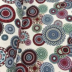 Tissu d'ameublement au mètre - Jacquard - Largeur 280 cm - Longueur au choix par 50 cm | Mandalas