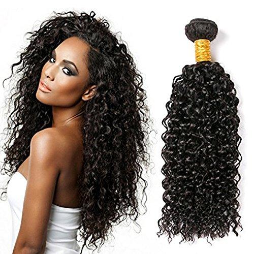 Clarolair, ciocche di capelli umani vergini brasiliani non trattati 7a, capelli afro kinkys ricci non trattati, extension di capelli umani remy, colore naturale (100 +/-5g)/pezzo 55,9 cm