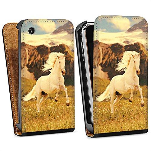 Apple iPhone 5 Housse Outdoor Étui militaire Coque Cheval blanc Étalon Jument mustang Sac Downflip noir