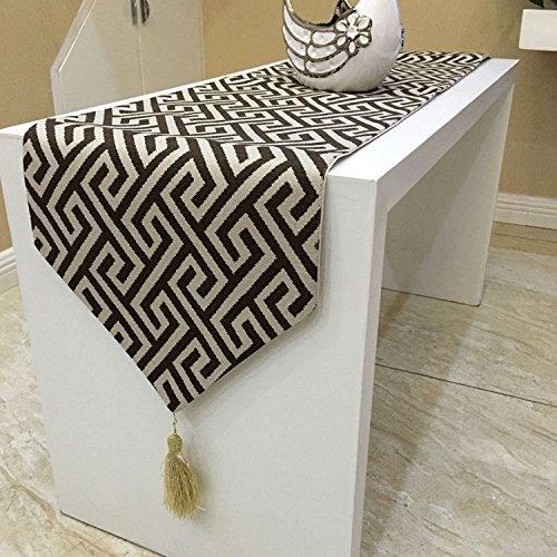 Design elegante e minimalista contemporaneo caffè a labirinto biancheria da tavola Tovaglie tabella runner , rosso Decorazioni di Natale