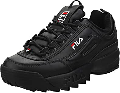 Fila Disruptor II - Scarpe da ginnastica da donna, Nero (nero/bianco/rosso.), 37.5 EU