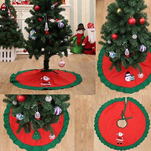 sunnymi Dekoration Weihnachtsbaum-Röcke 90cm Weihnachtsmann-Baum-Rock-Weihnachtsbaum-Christmas Tree Skirts Translucidus Römischer Vorhang (C, 90cm)