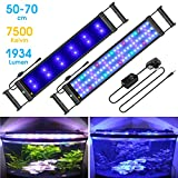 "MAINLICHT Aquarium Light with RGB and Blue LED for 19""-27"" Fish Tank Full"