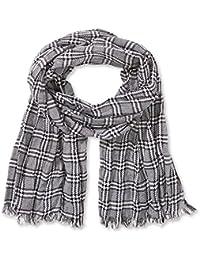 TOM TAILOR Denim Herren Schal black/white y/d scarf/409