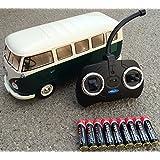 RC ferngesteuert VW Bulli 1962 T1 - 1:18 RTR , komplett-Set , Licht inkl. Fernsteuerung - DER KLASSIKER ! Bus oder Transporter, Farbe wählbar. (Bus - GRÜN/BEIGE)