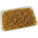 [Sponsored]eshoppee Glass Seed Beads, 4mm, 6/0 Beads For Jewllery Art And Craft Making DIY Kit (Gold Silver, 200 Gm)
