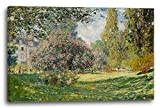 Printed Paintings Leinwand (120x80cm): Claude Monet - Landschaft am Park Monceau (1876)