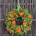 Blumenversand - Blumenstrauß versenden - zum Geburtstag - Herbstkranz - Türkranz mit frischem Buxbaum - mit Gratis - Grußkarte zum Wunschtermin versenden von Der Renner - Blumenversand - Du und dein Garten