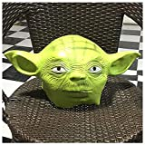 YN Yoda Master Mask Headgear Star Wars Movie Horror Latex Tocado Halloween Prestaciones de Rendimiento