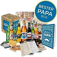 Bières de tout le monde 9 bières internationales l Cadeaux de la fête des pères de la fille l Coffret spécial avec autocollants l Cadeau idéal pour lui homme papa père grand-père conjoint mari oncle