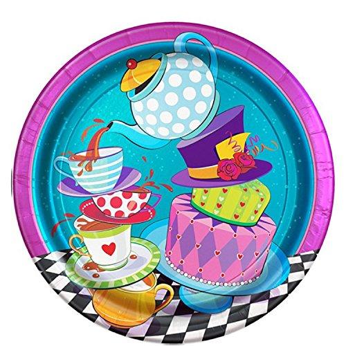 Fancy Me Mad Hatter Alice Motto Tee Party Geburtstag Feier Party Papier Geschirr Dekorationen Zubehör Foto Requisiten (Platten)
