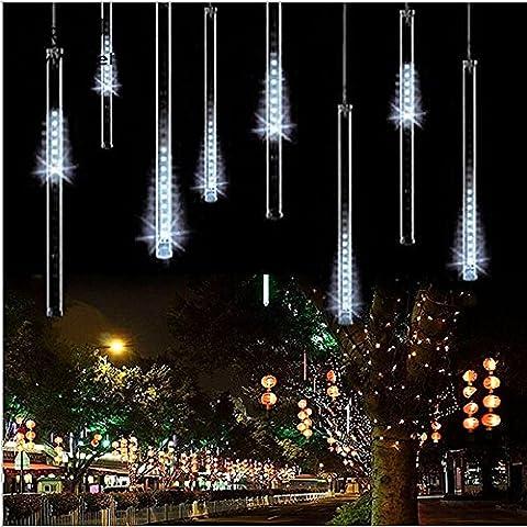 PINWHEEL LED di Natale 50cm 8 Tubi 240 LEDs Pioggia di Meteoriti Caduta Goccia di Pioggia Luci per la Festa del Partito di Nozze Decorazione Albero di Natal