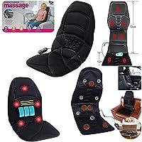 Fauteuil massant Shiatsu 5 massages pour dossier, cervicales, genoux, épaule, hanches, chauffant, pour voiture ou maison…