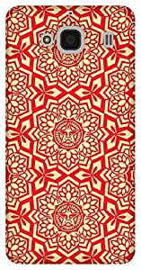 The Racoon Grip RED Tribal hard plastic printed back case / cover for Xiaomi Redmi 2 Prime