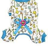 Hundekleidung, Niedlich Pyjama, Hund Nachthemd, Baumwolle Nachtwäsche, Nachthemd, Zum Teddy, Hündchen, Lass deine Haustiere gut schlafen (XL, Blau)