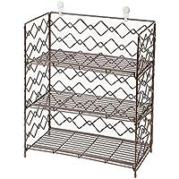 Amplio Estantería para especias cocina colgante y organizador de armario (Espresso, 3 niveles)