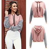 3D-Drucker , WWricotta Women Autumn Patchwork Sweatshirt Pullover Splicing Shirt Hoodie Blouse