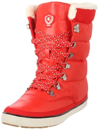 Keds Cream Puff Boot WF41192, Damen Stiefel, Rot (Poppy red), EU 39 (Keds Damen Rot)