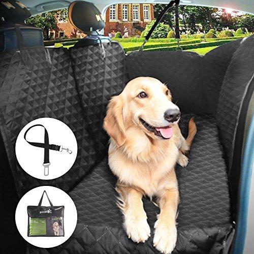 Pecute-Coprisedile-Auto-per-Cani-Impermeabile-Antiscivolo-Grande-Morbido-con-Protezioni-Laterali-Telo-Auto-Universale-per-Tutte-le-Auto-SUV-con-Cintura-di-Sicurezza-e-Sacchetto-Versione-Aggiornata