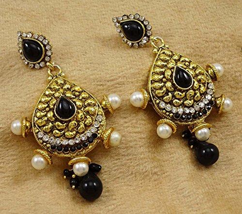 Banithani New Indian Ethnique Doré Partie De Boucle D'Oreille Bijoux Traditionnels De Bollywood or 4