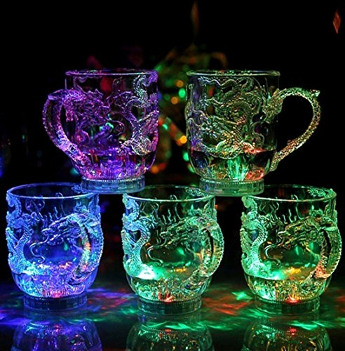Windspeed 3D Dragon geprägt LED Light bis Bier Cup Shot Glas Bar Night Club Party Drink Cup Night Cups