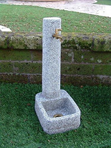 Bonfante fontane marsiglia cm29x38x71h bardiglio lavato con rubinetto 540ru2012 e piletta 540ru751