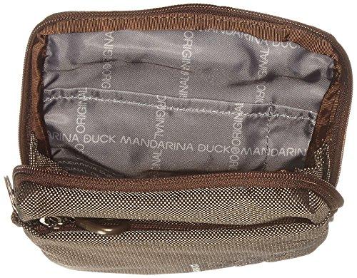 Mandarina Duck Damen Md20 Minuteria Schultertasche, 2.5x17.5x15 cm Braun (Pirite)