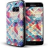 Galaxy S7 Edge Coque,Lizimandu 3D Motif Tpu Silicone Gel Étui Housse Protection Shell Cover Case Pour Samsung Galaxy S7 Edge(Verge Colorés/Colorful Pizzle)