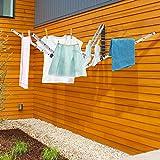 Parkland Wäscheständer, 5 Arme, klappbar, 26 m lange Wäscheleine, für Außenbereiche, zur Wandmontage