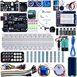 Elegoo UNO Project Super Starter Kit with Tutorial, 5V Relay, UNO R3, Power Supply Module, Servo Motor, 9V Battery with DC, Prototype Expansion Board, ect. for Arduino immagine
