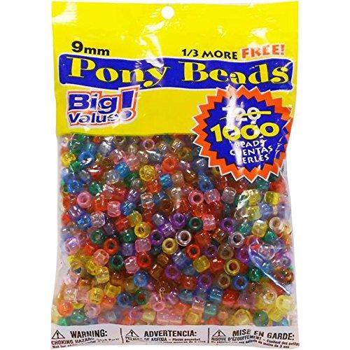 pony-perlina-grande-valore-pack-9-mm-1000-pkg-trasparente-multicolore