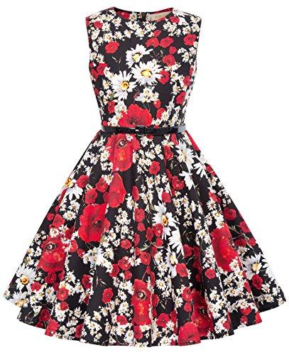 Niña Vestido Elegante de Verano Vestido Vintage para Fiesta de Cóctel 8 Años KK885-1