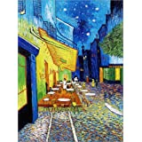 Cuadro sobre lienzo 50 x 70 cm: Cafe Terrace on the Place du Forum in Arles in the evening de Vincent van Gogh - cuadro terminado, cuadro sobre bastidor, lámina terminada sobre lienzo auténtico, im...