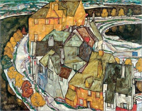 poster-40-x-30-cm-crescent-of-houses-ii-island-town-di-egon-schiele-stampa-artistica-professionale-n