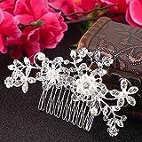 Best Headdresses - AmberRoze Bridal Hair White Pearl Crystal Headdress Review