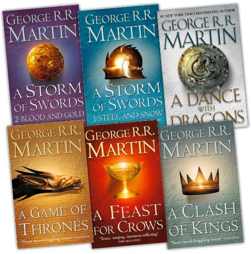 George R. R. Martin A Song of Ice and Fire 6 Books Collection Pack Set RRP: ...