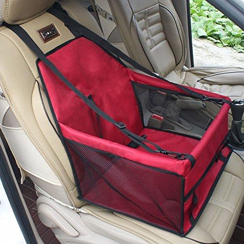 Siège de sécurité étanche Buwico pour le transport de chat/chien en voiture, avec sangle de sécurité et tapis de siège