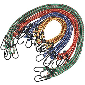 Tarpaulin Elastic... Heavy Duty Bungee Cords 12 in a Pack Shock Cord Ties