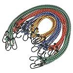 Heavy Duty Bungee Cords 12 in a Pack Shock Cord Ties - Tarpaulin Elastic BUNGY Cords - Tent/Tarp Fixings